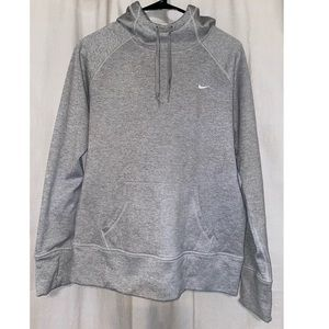 Grey Nike Therma-FIT Hoodie w/Thumb holes